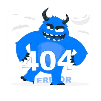 Monster 404 fout concept illustratie