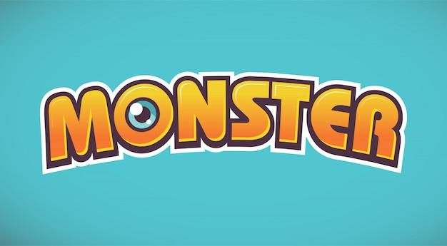 Monster belettering logo