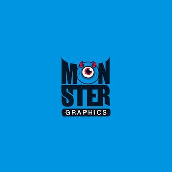Monster blauwe achtergrond