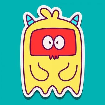 Monster cartoon karakter doodle ontwerp