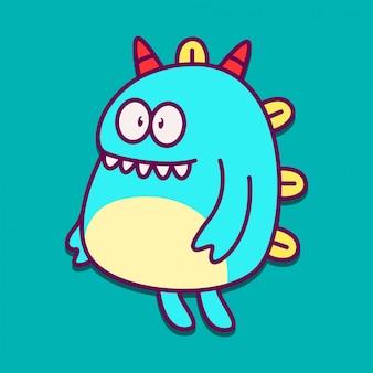 Monster cartoon sticker doodle