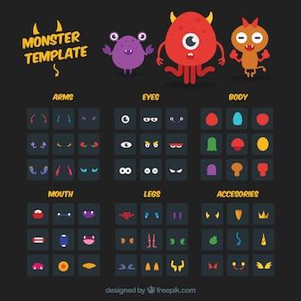Monster creatie template