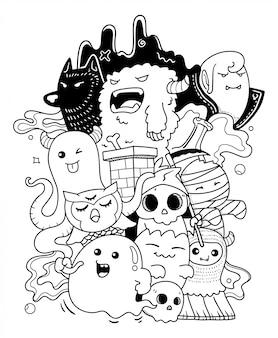 Monster doodle kunst