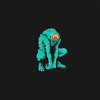 Monster een aye ontwerp ilustration