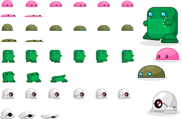 Monster game sprites