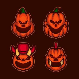 Monster halloween pompoen collectie
