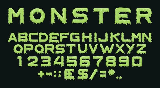 Monster lettertype effect