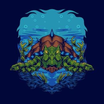 Monster schildpad