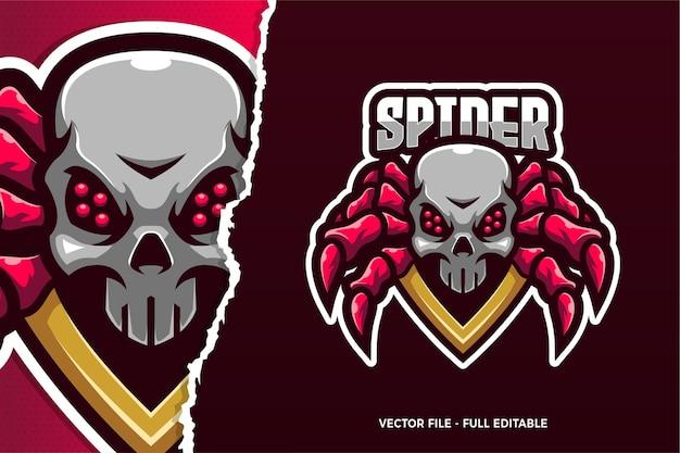 Monster spider e-sport logo sjabloon