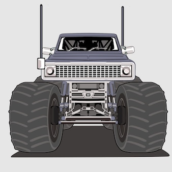 Monster truck grote voet