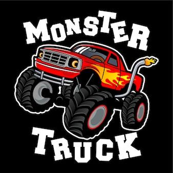 Monster truck logo ontwerp inspiratie