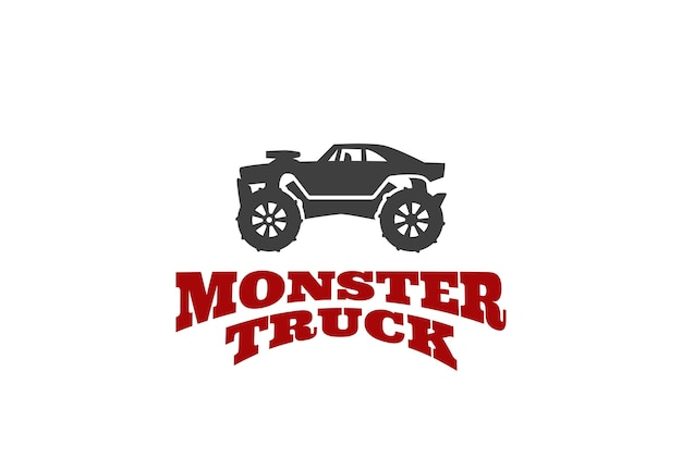 Monster truck logo sjabloon
