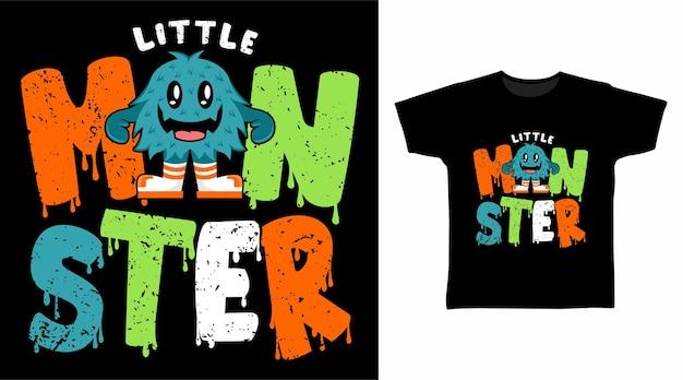 Monster typografie t-shirtontwerp