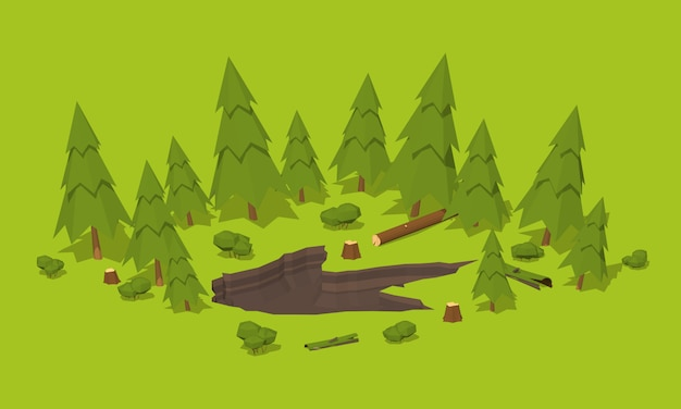 Monster voetafdruk in het bos