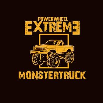 Monster vrachtwagen