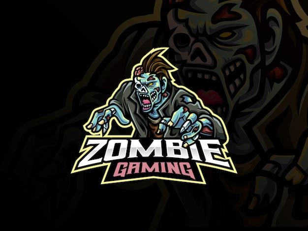 Monster zombie mascotte ontwerp
