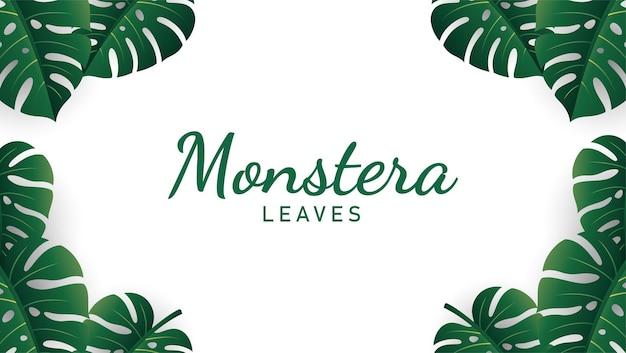Monstera bladeren achtergrond illustratie vector