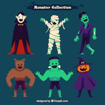 Monsters verzamelen van halloween