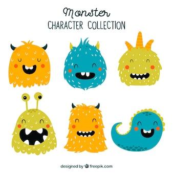 Monsterverzameling van zes