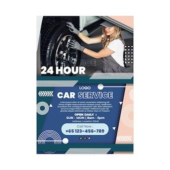 Monteur auto service poster sjabloon