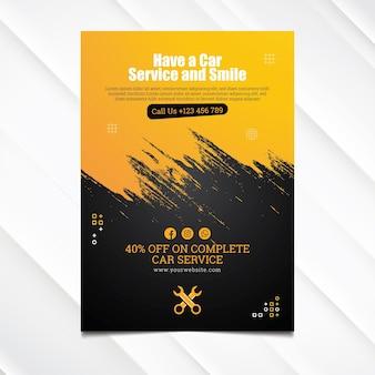 Monteur hub poster sjabloon