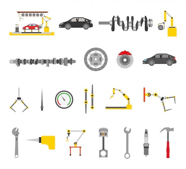 Monteur winkel bundel van tools