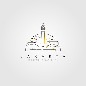 Monument national of jakarta line logo