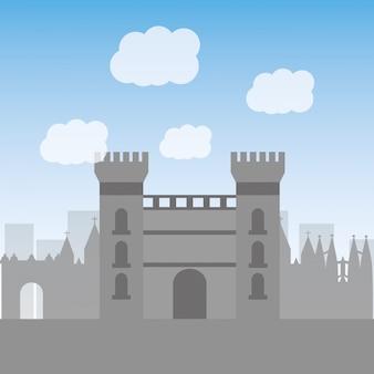 Monument van het kasteel van catalonië beroemde historische