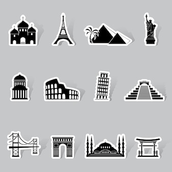 Monumenten stickers set