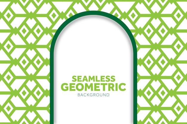 Mooi achtergrondontwerp met groen geometrisch patroon kan worden gebruikt om behang te maken