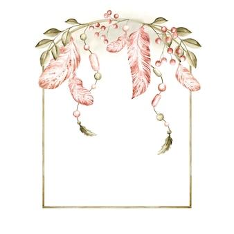 Mooi aquarel boho frame