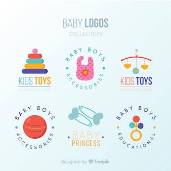 Mooi babyembleem met moderne stijl