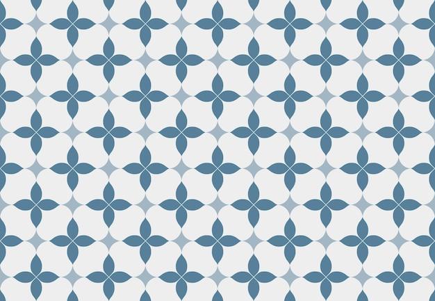 Mooi blauw en wit patroon
