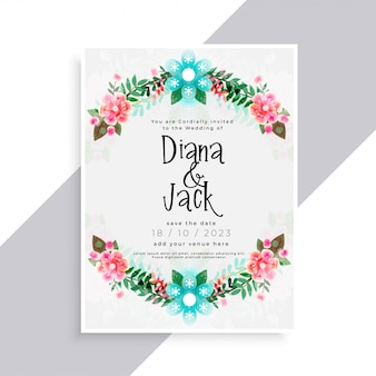Mooi bloei huwelijkskaart
