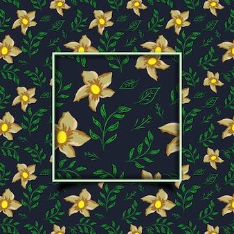 Mooi bloemen naadloos hand getrokken patroonontwerp