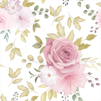 Mooi bloemen naadloos patroon met stoffige roze bloem