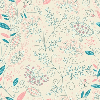 Mooi bloemen naadloos patroon.