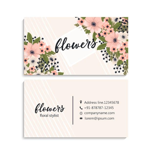Mooi bloemenadreskaartje