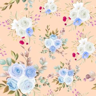 Mooi bloemenhand getrokken naadloos patroonontwerp