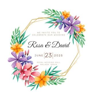 Mooi bloemenhuwelijkkader