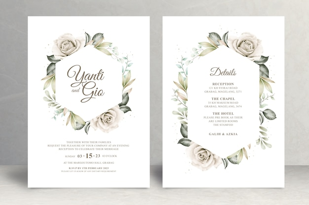 Mooi bloemenhuwelijkskaartthema