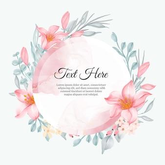 Mooi bloemenkader met elegant lelieroze
