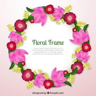 Mooi bloemenkader met realistisch ontwerp