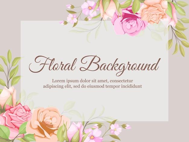 Mooi bloemenkaderontwerp als achtergrond