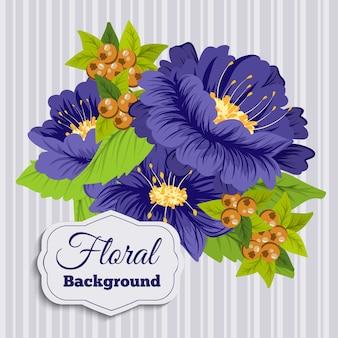 Mooi bloemenontwerp. vectorillustratie