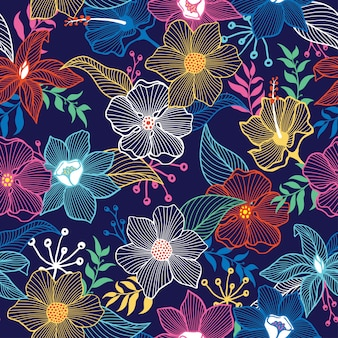 Mooi bloemenpatroonontwerp