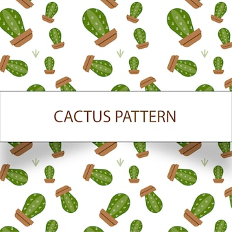 Mooi cactuspatroon op witte achtergrond