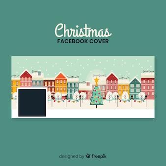 Mooi de bannersconcept van kerstmis facebook