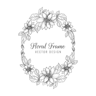 Mooi decoratief huwelijks bloemenkader