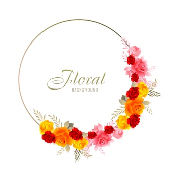 Mooi decoratief kleurrijk huwelijk bloemenkader